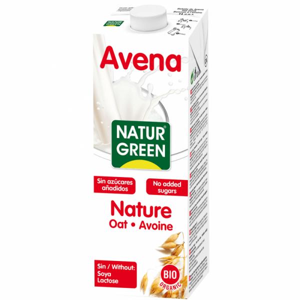 Lapte din Ovaz NATURE Neindulcit BIO NaturGreen - cutie 1000ml