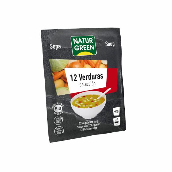 Supa Vegetala Selectie de 12 Verdeturi Bio - NaturGreen - 40g