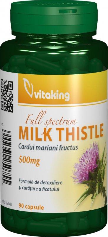 Silimarina - Extract de Armurariu (Silybi mariani) 500 mg. Vitaking - 30 capsule. Poza 6532